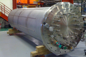 Dewar used for vertical testing of cavities prior to installation in pit